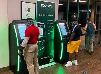 CocoonPod self-service kiosks